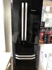 Hotpoint Quadrio Black Refurbished Fridge Freezer  FFU4DK 70cm American Style