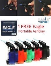 5 Pack 45 Degree Angle Eagle Jet Flame Torch Lighter 1 FREE Eagle Pocket Ashtray