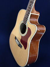 4/4 Caraya Dreadnought Electric-Acoustic Guitar+Free Gig Bag,Strings. F-650CEQ/N