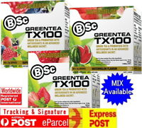 BSC GREEN TEA TX100 LEMON LIME / SUPER BERRY / WATERMELON 60 SERVES  BODYSCIENCE