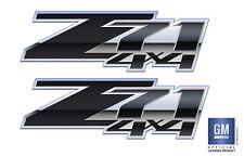 set of 2 2007-2013 Chevy Silverado Z71 4x4 Decals DPBLKFG Diamond Plate Black