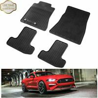 Floor Mats for 2015-2019 Ford Mustang Pony Horse Front Rear Row Mat Liners Set