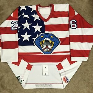 Game Worn Authentic Columbus Cottonmouths ECHL Hockey Jersey Used USA 58