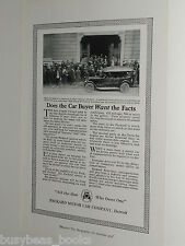 1920 PACKARD advertisement, Packard Motor Car Company, businessmen