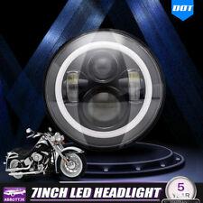 "Halo 7""  LED Motorcycle  Projector  Headlight For Harley Yamaha"