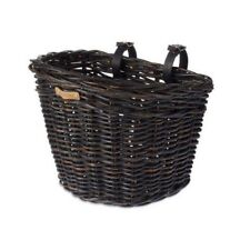 Basil Fahrradkorb Vorderrad Darcy L Rattan - schwarz