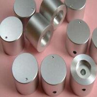 1PCS 30mmDIA x 22mm SILVER DIY SOLID Aluminum STEREO VOLUME ROTARY CONTROL KNOB