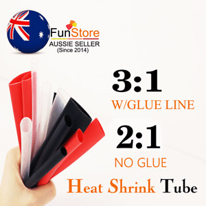 Heat Shrink Tubing Cable Insulation Sleeve Seal Protect Fire Retardant 3:1/2:1