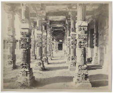 c.1860's PHOTO INDIA BOURNE - DELHI THE KUTUB MINAR INTERIOR VIEW OF COLONADE