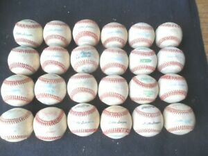 24 Regulation Very Lightly Game Used Leather Covered Baseballs Rawlings ProNine