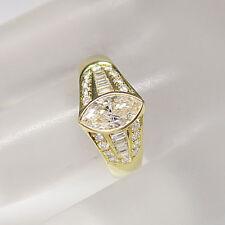 Ring mit ca. 2,50ct Diamant Navette, Baguette und Brillant Schliff in 18K GG