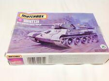T.34/76 Soviet Main Battle Tank  1980's Matchbox  1/72 vintage Tank 40082