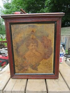 VINTAGE / ANTIQUE DIAMOND DYES c.1900 TIN LITHOGRAPHED FACED STORE CABINET RARE