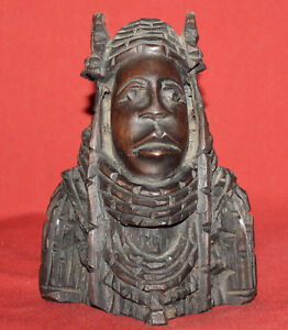 Vintage Hand Carving Wood Tribal Shaman Statuette