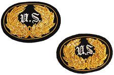 American Civil War ACW Union US Officers Kepi & Hat Insignia Badge Set