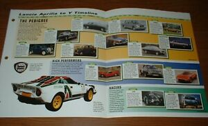 ★★1945-99 HISTORY OF LANCIA SPORTS CARS BROCHURE PICTURE TIMELINE★★