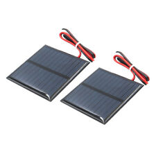 2pcs Mini Solar Panel Small Cell Module for Garden Lights Cable 60x60mm