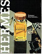 PUBLICITE ADVERTISING 056  1982  Eau de toilette Equipage  Hermès *