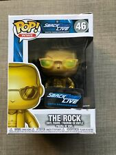 Funko Pop The Rock Gold Wwe Smackdown Live #46 20th Anniversary