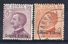 1928/29 ERITREA 20+60 CENTESIMI USATO+MLH D/3284