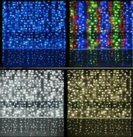 240/480 LED CURTAIN LIGHTS BRIGHT CHASER BACKDROP PARTY FAIRY XMAS TIMER MEMORY