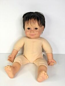 Baby So Real Irwin Toys 2007 Reborn Style Baby Doll Brown Eyes & Brown hair 16""