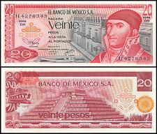 Mexico 20 Pesos, 1977, P-64d, UNC, Series-DH