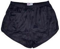 Black Nylon Ranger Panties Silkies Running Track Shorts by Soffe Men's Small