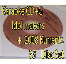 KARAOKE CD+G 2008 Kurrents + Idol Maker OVER 620 SONGS OLD AND NEW  Songs+bonus
