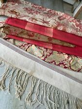 Antique Vintage French fabrics materials Crafting Project Bundle Toile Paisley