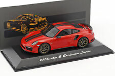 Porsche 911 (991) Turbo S Exclusivo Series Rojo Metálico 1:43 Spark