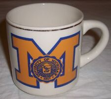 1989 University of Michigan Wolverines NCAA basketball champions coffee cup