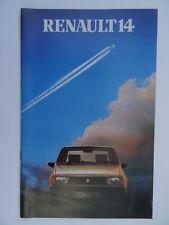 Renault 14 FOLLETO 1981/1982 - TL, GTL, TS MODELOS + Renault Boutique.