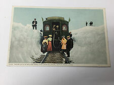 Vintage Postcard Locomotive Snow Rollins Pass Continental Divide Moffat Road