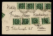 DR WHO 1923 GERMANY OVPT BLOCK BERLIN TO AUSTRIA  g41136