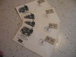 LOT OF 4 1978 CENTENNIAL FIRST DAY ENVELOPES, TELEPHONE EXCHANGE, NEW HAVEN CONN