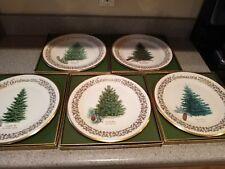 "Lot of 5 Lenox Christmas Tree Plates Limited Commemorative 1976-80, 10.5"""