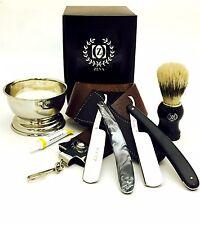 Straight Razors Dovo Paste Strap Cup Soap Bag Shaving Set in Gift Box for XMAS