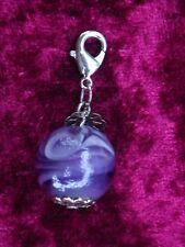 Anhänger, Perle, gross, violett ,Bettelkette Handy