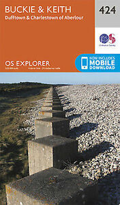 Buckie and Keith Explorer Map 424 Ordnance Survey 2015