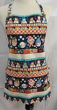 Handmade Christmas Apron Snow People w/Jingle Bells Original by Bobbye Dene
