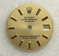Rolex Lady Datejust 26mm Champagne Stick Dial Part-T Swiss T-6917,69173-69178