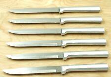 Rada R104 Set Of Six Utility/Steak Knives Silver Handle Same As S06 No Box +
