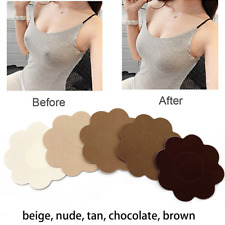 10 x Nipple Cover Disposable Breast Satin Fabric Pasties Flower Shape Breathable
