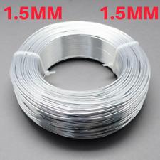 1.5 mm Aluminio Craft floristería Alambre Fabricación de Joyas Plata 6 M longitudes