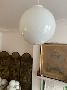 20th century large opaline milky glass globe shade 30cm