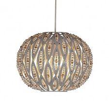 Modern Taupe Metal Leaf Design Easy Fit Ceiling Light Shade Bedroom Lounge NEW