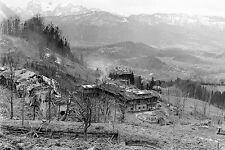 WW2 - Chalet d'Hitler au Berghof bombardé. 4 mai 1945
