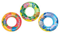 45cm Kids Swimming Ring Pool Tyre Donut Float Swim Inflatable Pink Green Blue