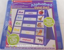 SCHOLASTIC ALPHABET POCKET CHART ACTIVITY CENTER PRE-K TO 1ST HOMESCHOOL TEACHER